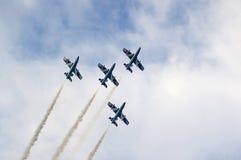 tricolori acrobatique d'équipe de frecce Images stock