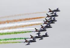 Tricolori de Frecce, Italia Fotografía de archivo libre de regalías