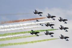 Tricolori de Frecce, Italia Fotos de archivo