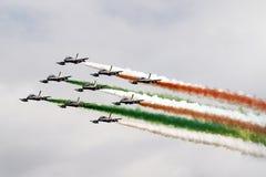 Tricolori de Frecce, Italie photographie stock libre de droits