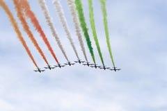 Tricolori di Frecce Fotografie Stock Libere da Diritti