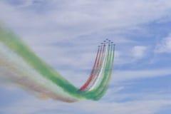 Tricolori Frecce, Ιταλία Στοκ εικόνα με δικαίωμα ελεύθερης χρήσης