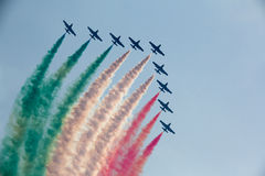 Tricolour Arrows Royalty Free Stock Image