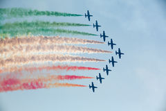 Tricolour Arrows Royalty Free Stock Photography