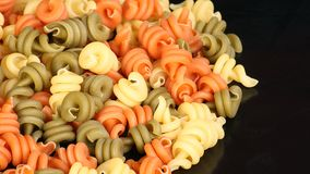 Tricolour dried pasta Royalty Free Stock Image