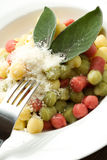 Tricolour gnocchi Royalty Free Stock Image