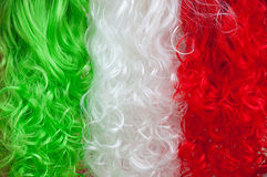 Tricolour wigs abstract background Royalty Free Stock Images