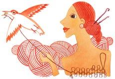 Tricotage à la main Images libres de droits