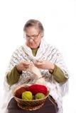 Tricotage aîné de femme Photos libres de droits