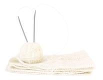 Tricotage : amorçages, configuration et rais blancs Photos libres de droits