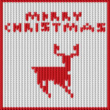 Tricotage avec un cerf commun Image stock