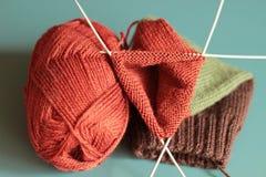 Tricotage coloré images libres de droits
