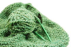 Tricotage d'une couverture Image stock
