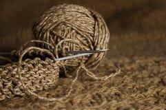 Tricotage de Brown Photographie stock libre de droits
