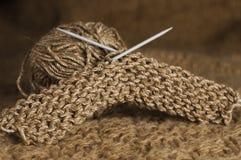 Tricotage de Brown Photos libres de droits