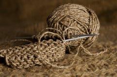 Tricotage de Brown Photo stock