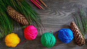 Tricotage de Noël Photo libre de droits