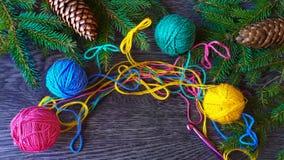 Tricotage de Noël Image stock