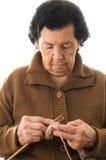 Tricotage doux de grand-mère Image stock