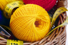 Tricotage et bande Photo libre de droits