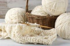 Tricotage et fil Image libre de droits