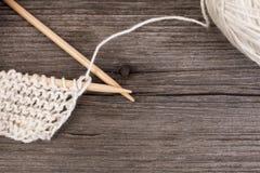 Tricotage et fil de laine Photos libres de droits