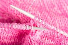 Tricotage fabriqué à la main Images stock