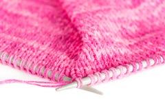 Tricotage fabriqué à la main Photos stock