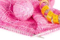 Tricotage fabriqué à la main Photos libres de droits