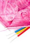 Tricotage fabriqué à la main Photo stock