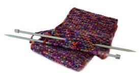 Tricotage, fil, de laine, modèle, d'isolement Images stock