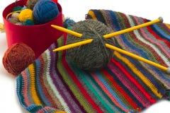 Tricotage, fils Image libre de droits