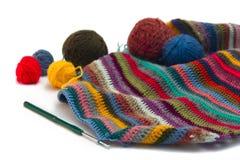Tricotage, fils Photographie stock libre de droits