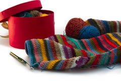 Tricotage, fils Photos libres de droits