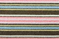 Tricotage horizontal de rose de Brown ou modèle tricoté de texture de tissu Photographie stock libre de droits