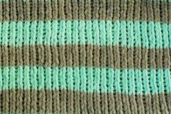 Tricotage rayé d'élastique image stock