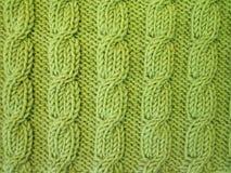 Tricotage vert photographie stock libre de droits