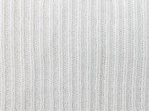 Tricotage vertical ou modèle tricoté Backgr de blanc de texture de tissu images libres de droits