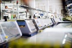 Tricotant et machines de tissage Photos libres de droits