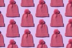 Tricotez le chapeau d'hiver photo libre de droits
