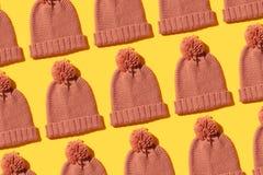Tricotez le chapeau d'hiver photographie stock libre de droits