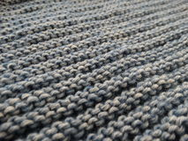 Tricottare della lana Fotografia Stock
