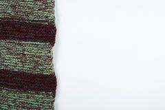 Tricottare di struttura del tessuto della sciarpa o del maglione grande Fondo tricottato del jersey con un modello in rilievo Mac Fotografia Stock