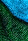 Tricottare il fondo di struttura della lana Orizzontale tricottato variopinto t Fotografia Stock Libera da Diritti