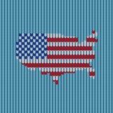 Tricottare la bandiera americana del modello Fotografie Stock