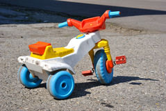Tricycle. Colorful kids plastic tricycle Stock Photography