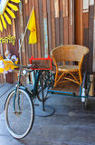 Tricycle ancient. In upcountry thailand Stock Image