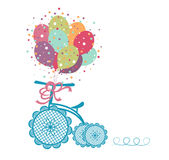 Tricycle with balloons Stock Photography