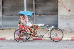 Tricycle bicycle taxi Stock Photography