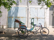 Tricycle or Bike Rikshaw in India Royalty Free Stock Photo